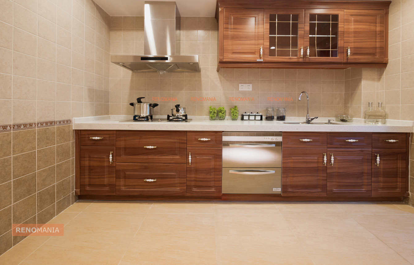 Natural Straight Kitchen