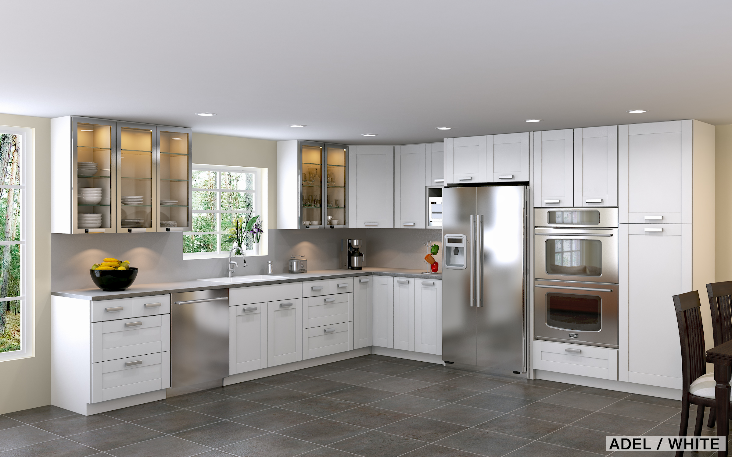 Small White Kitchen Remodel small l shaped kitchen interior design throughout small white l